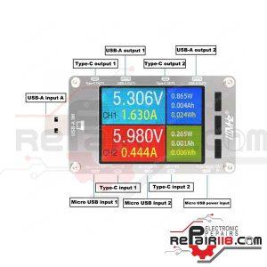 ماژول تستر شارژ یو اس بی T50N usb charger tester
