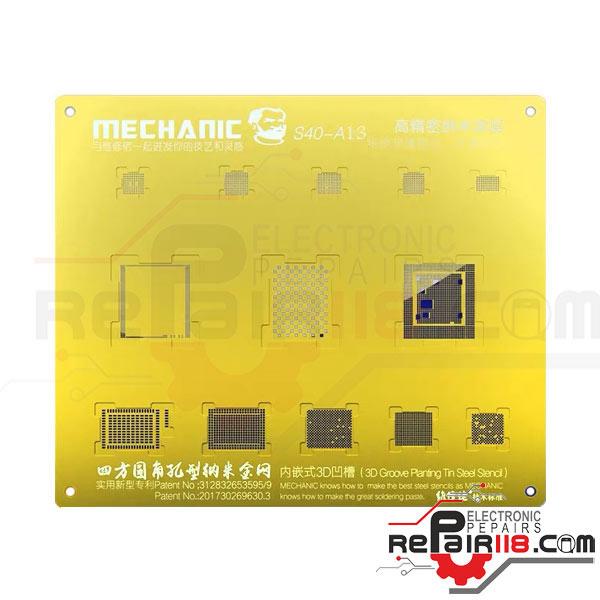 شابلون 3D آیفون Mechanic S40 پردازنده سری A13