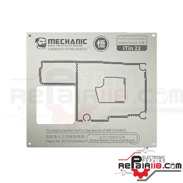 شابلون Mechanic iTin-22 iPhone 11Pro/11Pro Max